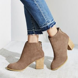 Urban Outfitters beige suede booties